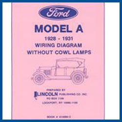 wiring diagrams - without cowl lights - model a ford - buy online!